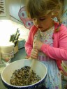 Christmas pudding Elizabeth stirring